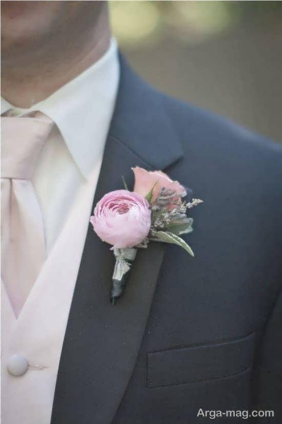طرح های زیبای گل سینه داماد