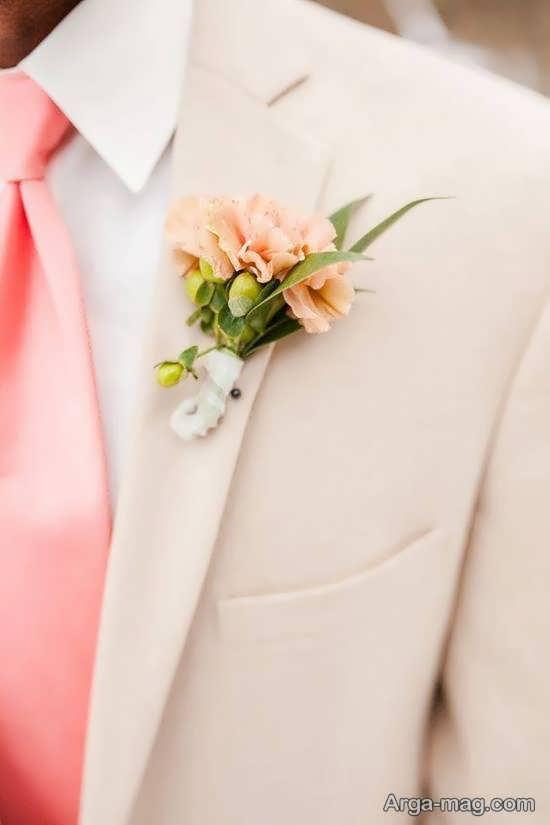 الگوهای خاطره انگیز گل سینه داماد