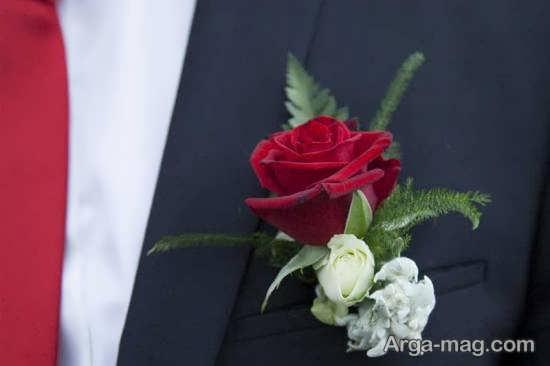 نمونه های زیبا و دوست داشتنی گل سینه داماد