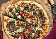 آموزش طرز تهیه پیتزا گوشت و اسفناج
