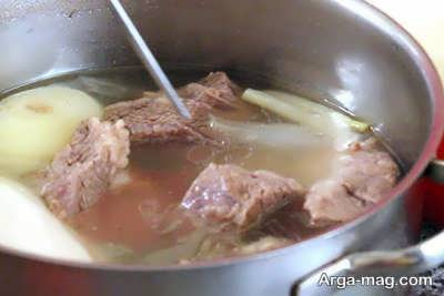 طرز پخت آبگوشت بزباش آبگوشت همدانی خوشمزه
