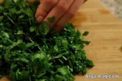خرد کردن سبزی
