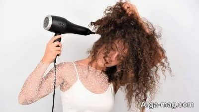 آموزش خشک کردن موها