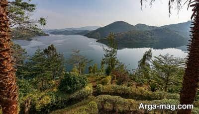 دریاچه کیو در کشور روآندا
