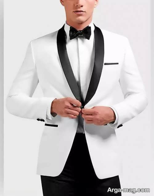 مدل کت سفید اسموکینگ