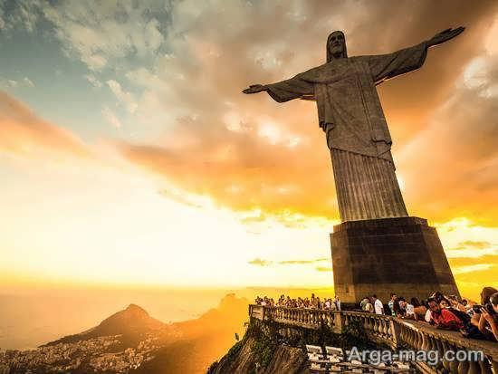 تندیس مسیح از جاذبه های کشور برزیل