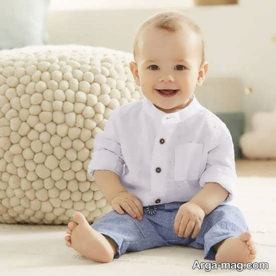 مدل لباس بچه گانه سفید پسرانه