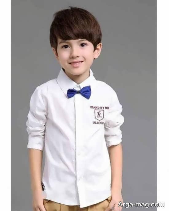 لباس پسرونه سفید رنگ