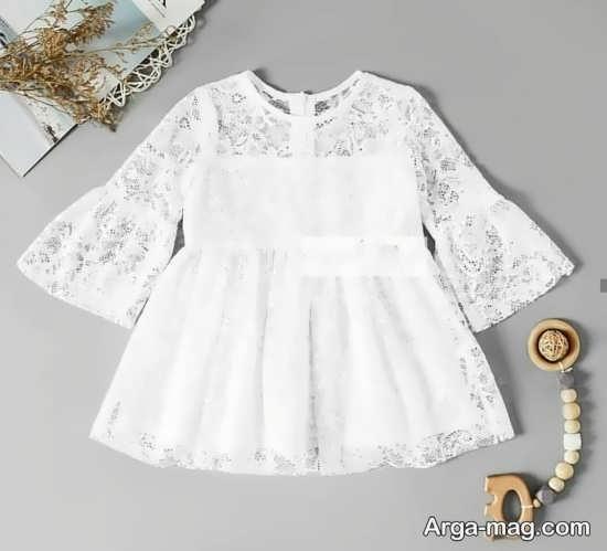لباس عروس بچه گانه سفید