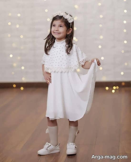 مدل لباس بچه گانه سفید جدید