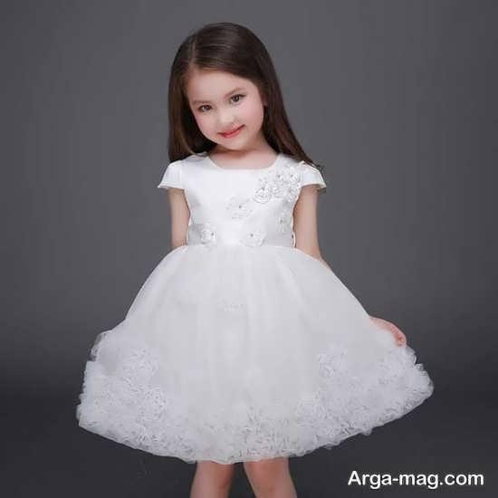 نمونه لباس جالب بچه گانه سفید
