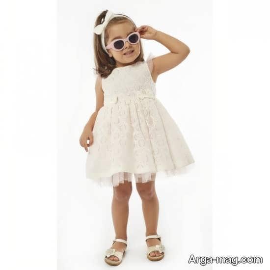 مدل لباس بچه گانه سفید دیدنی
