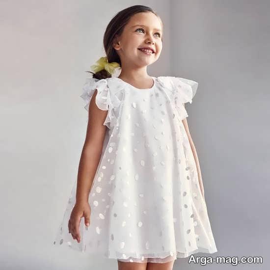 لباس گبپور دخترانه سفید