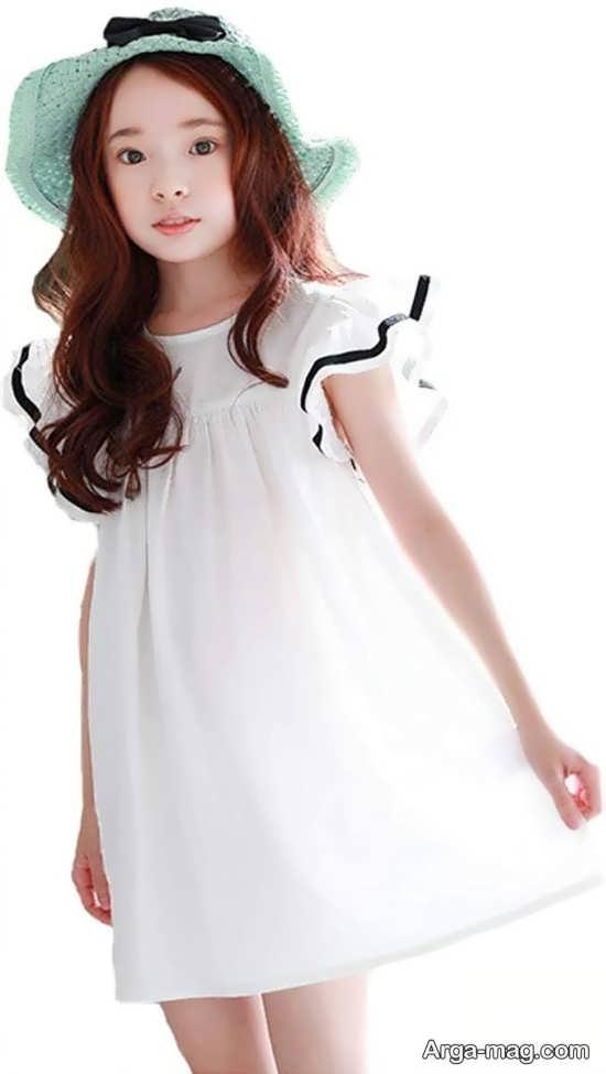 لباس راحتی بچه گانه سفید رنگ