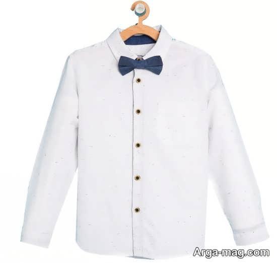 پیراهن پسرانه بچه گانه سفید