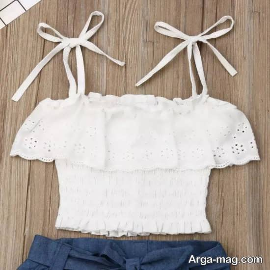 نمونه لباس های مختلف بچه گانه سفید