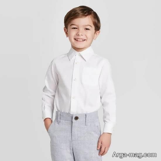 پیراهن ساده بچه گانه سفید