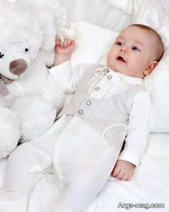 لباس بچه گانه سفید فوق العاده زیبا