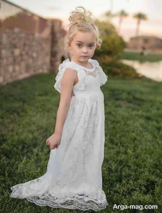 سری اول لباس دخترانه سفید
