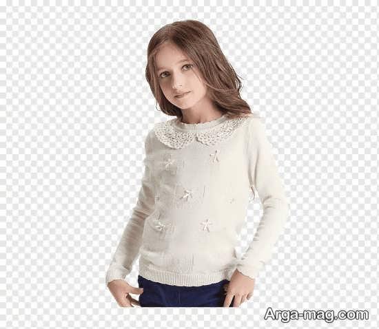 بلیز سفید رنگ دخترانه