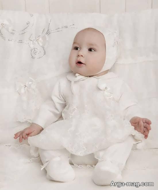 مجموعه مدل لباس بچه گانه سفید