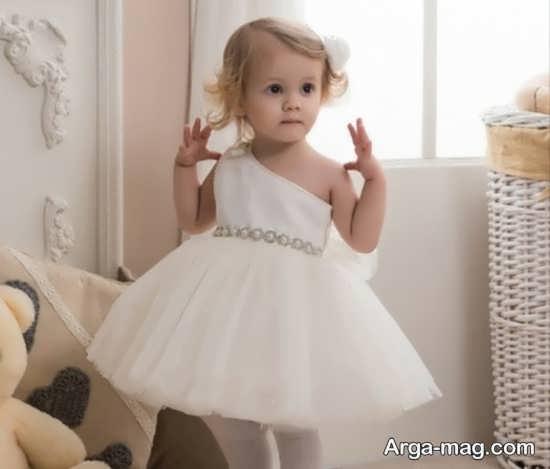 لباس بچه گانه سفید دخترانه