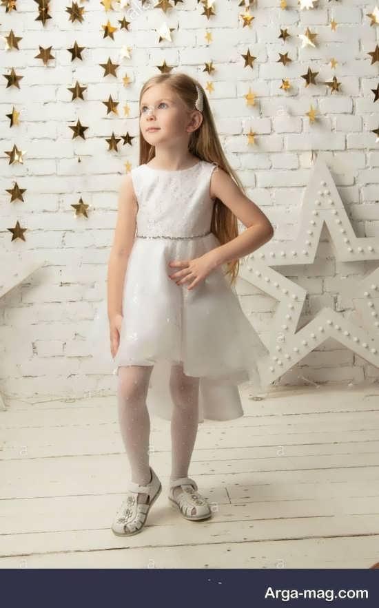 مدل لباس بچه گانه سفید دخترانه جدید