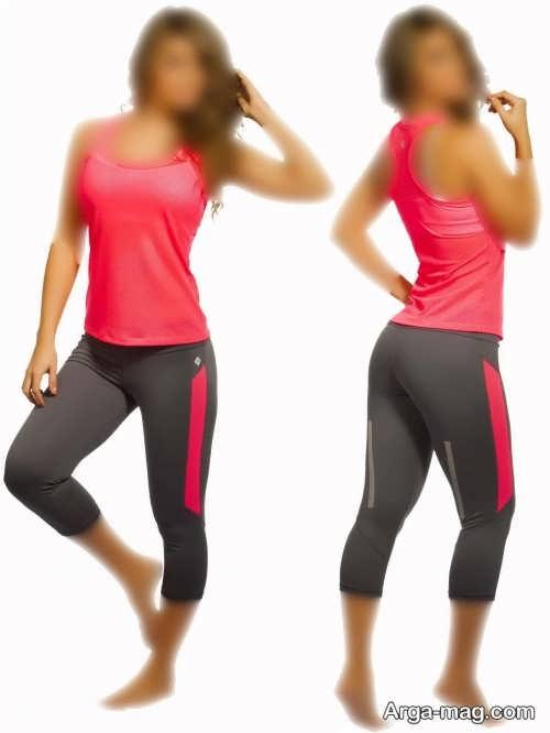 مدل لباس ورزشی دو رنگ زنانه