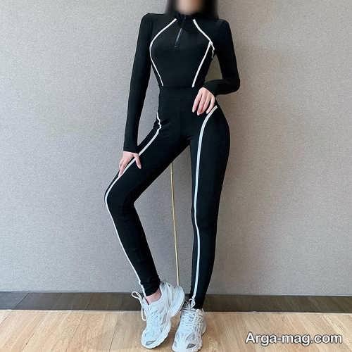 مدل لباس ورزشی زنانه مشکی