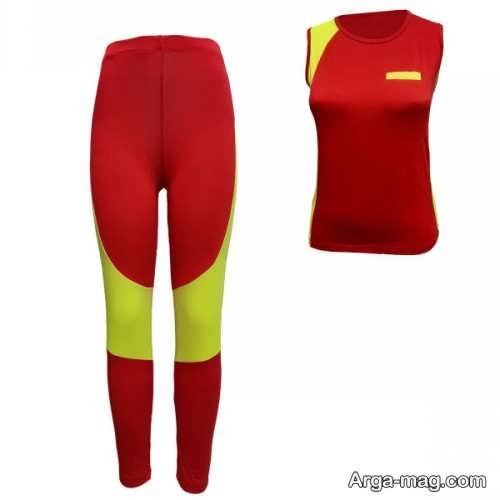 مدل لباس ورزشی قرمز