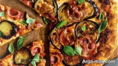 طرز تهیه پیتزا بادمجان خوشمزه و لذیذ