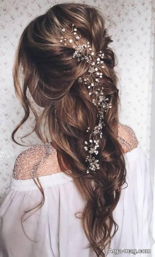 آرایش موی خاص و جذاب عروس