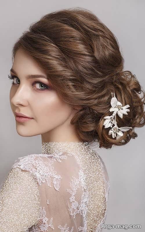 آرایش موی بسته مخصوص عروس