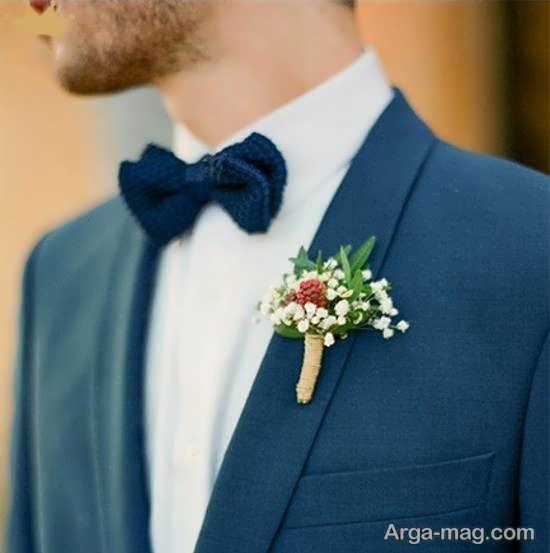انواع الگوهای خارق العاده و خلاقانه گل سینه داماد