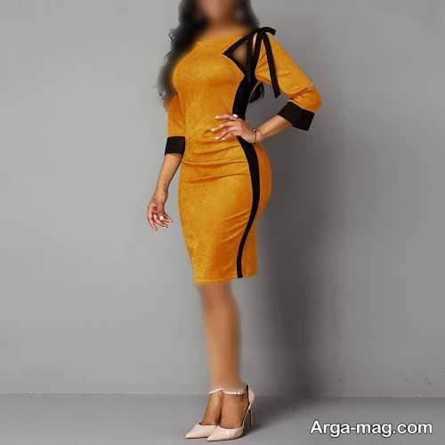 لباس مجلسی خردلی