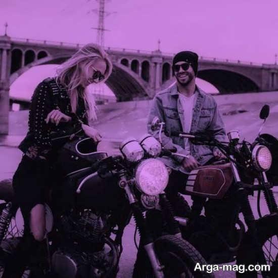 انواع زیبا عکس عاشقانه با موتور