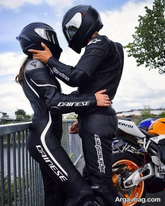 عکس عاشقانه با موتور زیبا و جذاب