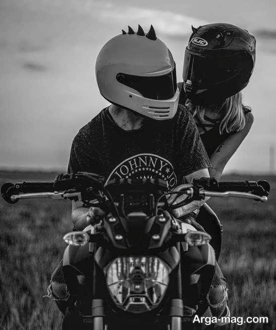 انواع جذاب عکس پروفایل عاشقانه با موتور