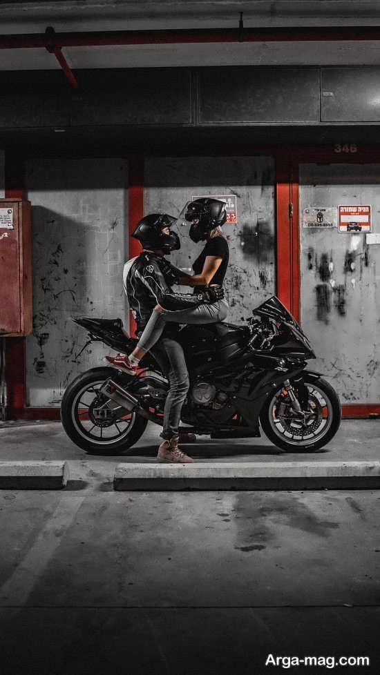 انواع مختلف عکس عاشقانه با موتور