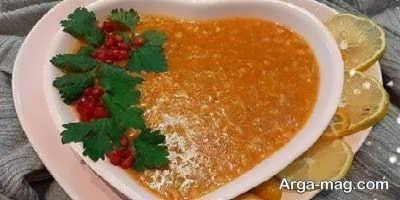 تزیین سوپ اسپانیایی