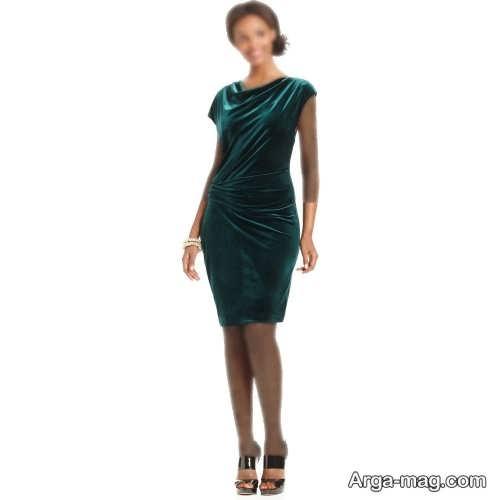 لباس مجلسی زنانه 2022 سبز رنگ
