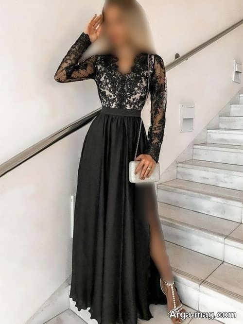 لباس مجلسی زنانه ۲۰۲۲ مشکی و شیک