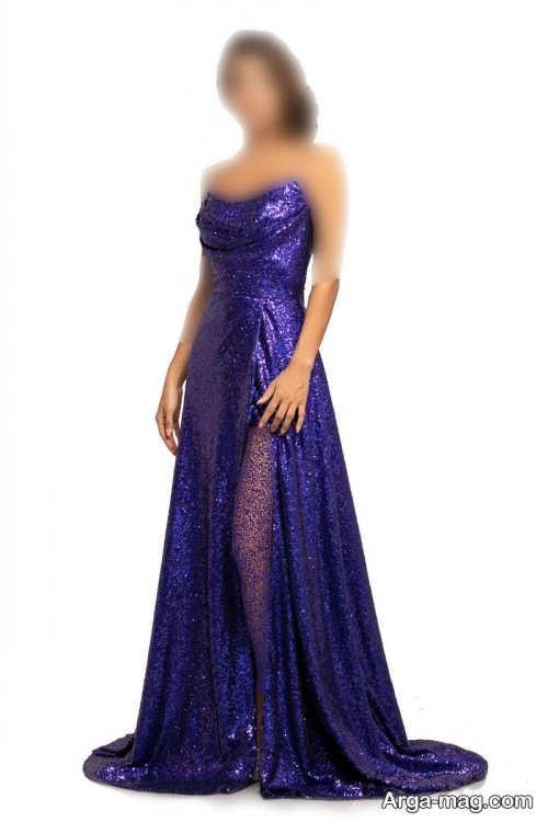 لباس مجلسی زنانه ۲۰۲۲ با رنگ آبی تیره