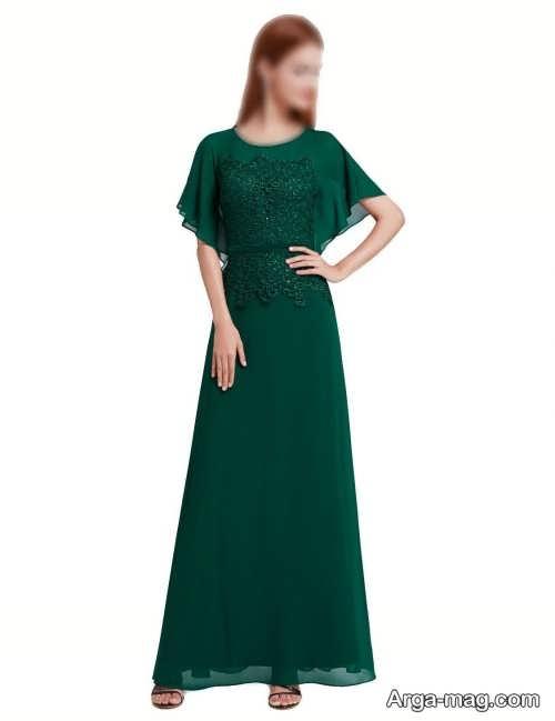 لباس مجلسی سبز و ساده زنانه ۲۰۲۲
