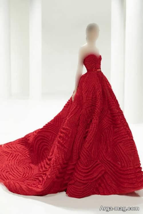 طرح های لباس مجلسی قرمز زنانه ۲۰۲۲