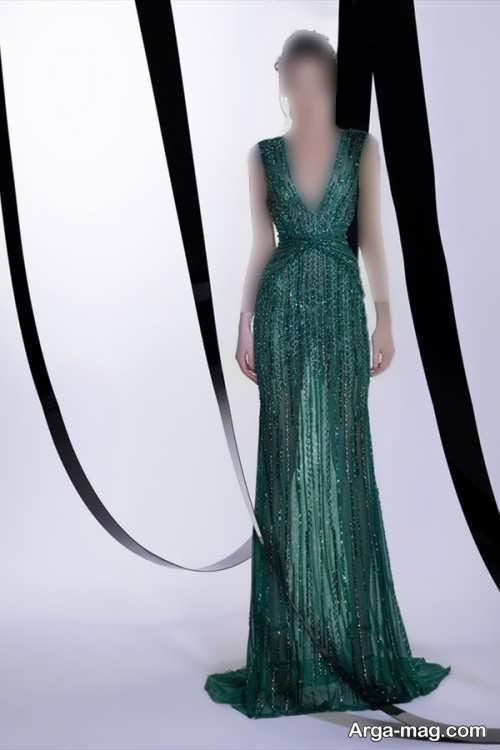 لباس مجلسی سبز و شیک زنانه ۲۰۲۲