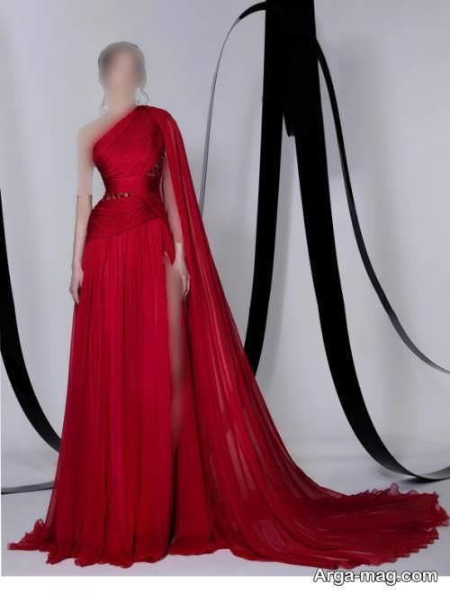 لباس مجلسی قرمز تیره زنانه ۲۰۲۲