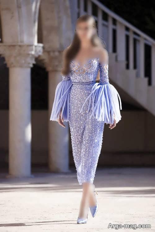 مدل لباس مجلسی زنانه ۲۰۲۲ ساده و کار شده