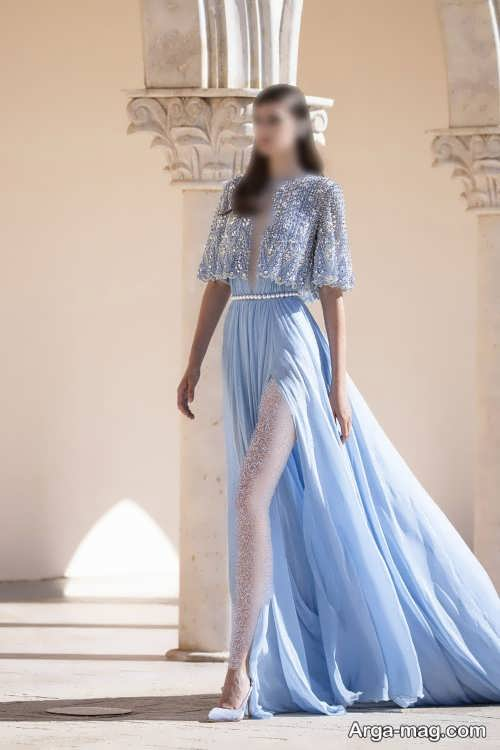 لباس مجلسی آبی و شیک